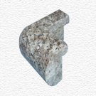 Granite Edge Piece 3x1.75x1.18 JAVA BROWN PRESCOTT OUT CORNER