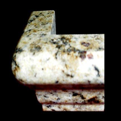 Granite Edge Piece 3x2x1.34 NEW VENETIAN GOLD MARTEL OUT CORNER