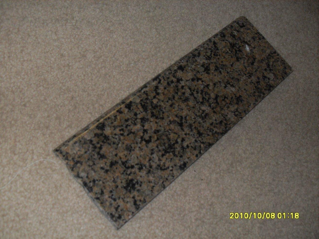 Granite Edge Piece 12x4x3/8 TROPIC BROWN BULLNOSE