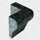 Granite Edge Piece 3x2x1.34 VERDE BUTTERFLY MARTEL OUT CORNER