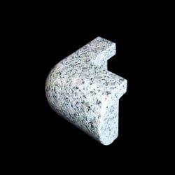 Granite Edge Piece 3x1.75x1.18 WHITE LEOPARD PRESCOTT OUT CORNER