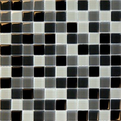 Mosaics 1X1 GLASS BLACK BLEND (Crystallized Blend) 12x12