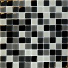 Mosaics 1X1 GLASS BLACK BLEND (Crystallized Blend) 12x12