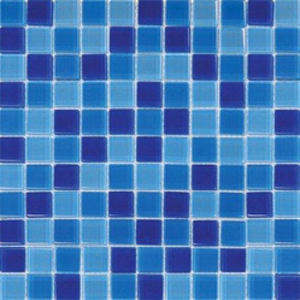 Mosaics 1x1 GLASS BLUE BLEND (Crystallized Blend) 12x12