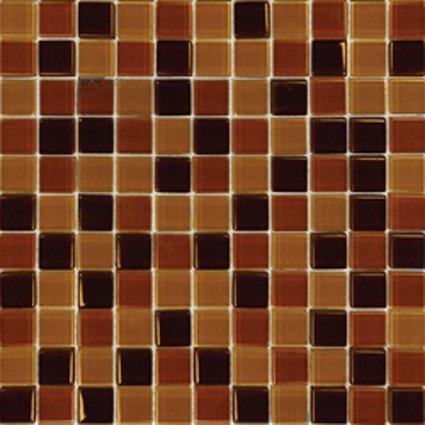 Mosaics 1X1 GLASS BROWN BLEND (Crystallized Blend) 12x12
