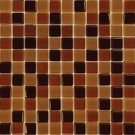 Mosaics 1X1 GLASS BROWN BLEND (Crystallized Blend) 12x12