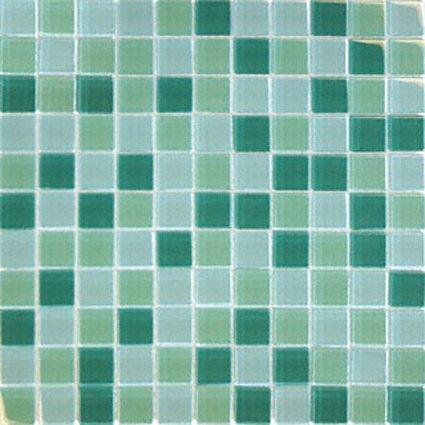 Mosaics1X1 GLASS GREEN BLEND (Crystallized Blend) 12x12