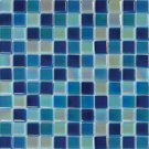Mosaics 1X1 GLASS IRRIDESCENT BLUE BLEND (Crystallized Blend) 12x12