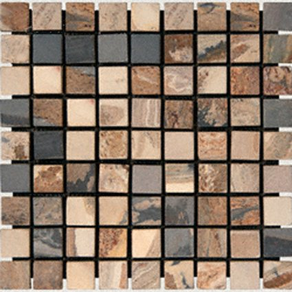 Mosaics 1X1 SLATE AUTUMN (Tumbled) 12x12