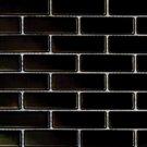 Mosaics 1X2 METAL BLACK BRICK (Matte) 12x12