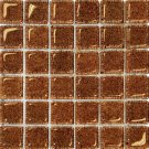 Mosaic 2X2 GLASS AG BROWN (BubbleGlass) 12x12