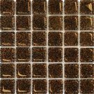 Mosaics 2X2 GLASS AG DARK BROWN (Bubble Glass) 12x12