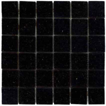 Mosaics 2X2 GRANITE BLACK GALAXY (Polished) 12x12