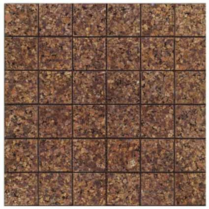 Mosaics 2X2 GRANITE JALORE CAFE (Polished) 12x12