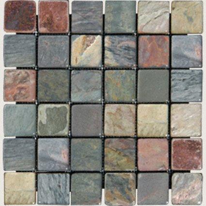 Mosaics 2X2 SLATE MULTI SELECT (Tumbled) 12x12