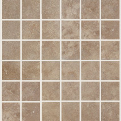 Mosaic 2X2 TRAVERTINE TUSCANY WALNUT (Tumbled) 12x12