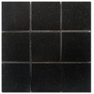 Mosaic 4X4 GRANITE ABSOLUTE BLACK (Polished) 12x12
