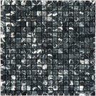 Mosaic 5/8 MARBLE BLACK WITH WHITE VEIN (Tumbled)12x12