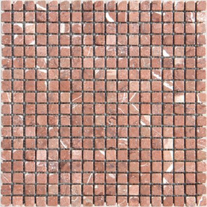 Mosaic 5/8 MARBLE ROJO ALICANTE (Tumbled)12x12