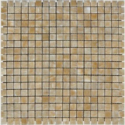 Mosaic 5/8 ONYX GIALLO CRYSTAL ONYX (POLISHED)12X12