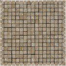 Mosaic 5/8 TRAVERTINE TUSCANY WALNUT (Polished)12x12