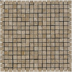 Mosaic 5/8 TRAVERTINE TUSCANY WALNUT (Polished)12x12