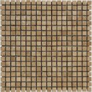 Mosaic 5/8 TRAVERTINE TUSCANY WALNUT (Tumbled)12x12