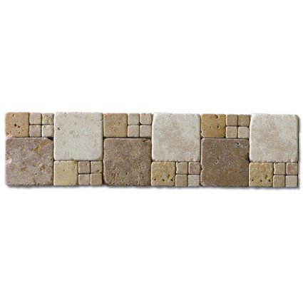 Border  Noce, Beige and Gold 3x12 (Travertine)