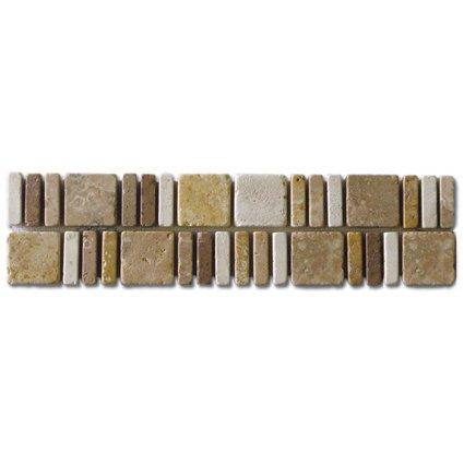 Border Noce, Beige, Mocha and Gold 3x12 (Travertine)