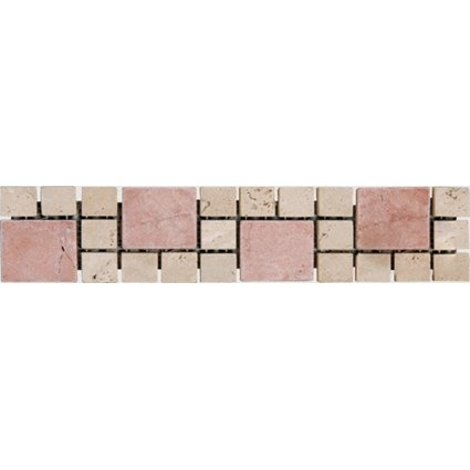 Border Tuscany Classic and Rouge 3.03x12 (Travertine)