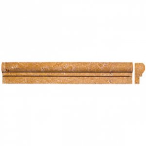 Edge Piece 0.82x1.87x12  TUSCANY GOLD CHAIR MOLDING