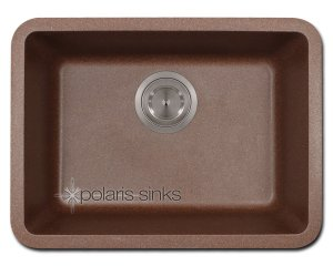 POLgranite P818 Brown Single Bowl Sink