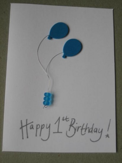 Handmade Card - 1st Birthday