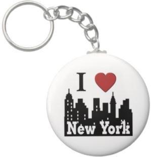 2.25 Inch I Love New York Keychain