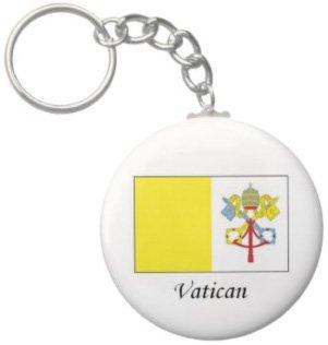 2.25 Inch Vatican Flag Keychain