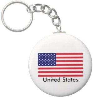 2.25 Inch United States Flag Keychain