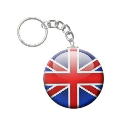 2.25 Inch British English Flag UK Keychain