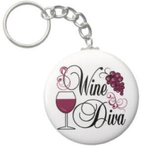 2.25 Inch Wine Diva Keychain