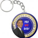 2.25 Inch Barack Obama President Yes We Did Keychain