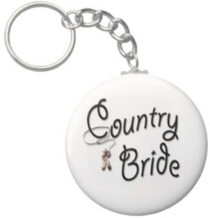 2.25 Inch Country Bride Keychain