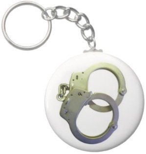 2.25 Inch Handcuff Keychain