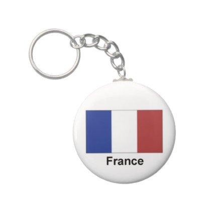 2.25 Inch France Flag Keychain