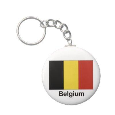 2.25 Inch Belgium Flag Keychain