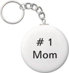 2.25 Inch # 1 Mom Keychain