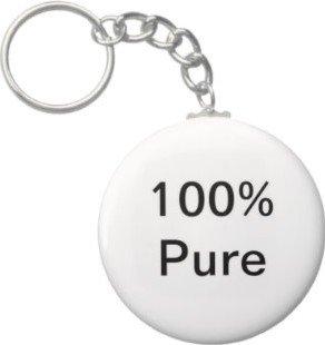 2.25 Inch 100 % Pure Keychain