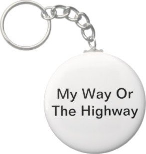2.25 Inch My Way Or The HighWay Keychain