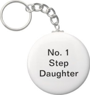 2.25 Inch No. 1 Step Daughter Keychain