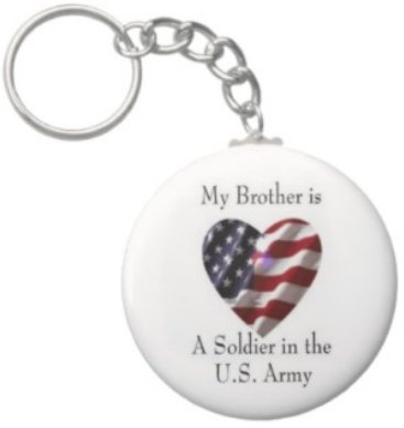 2.25 Inch My Brother Soldier in the US Army Keychain