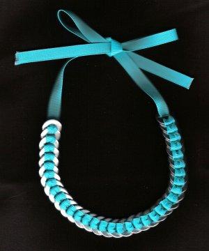 Washer Necklace - Turquoise