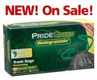 33-Gallon Drawstring PrideGreen� Biodegradable Tall Kitchen Bags � 10-ct. Box